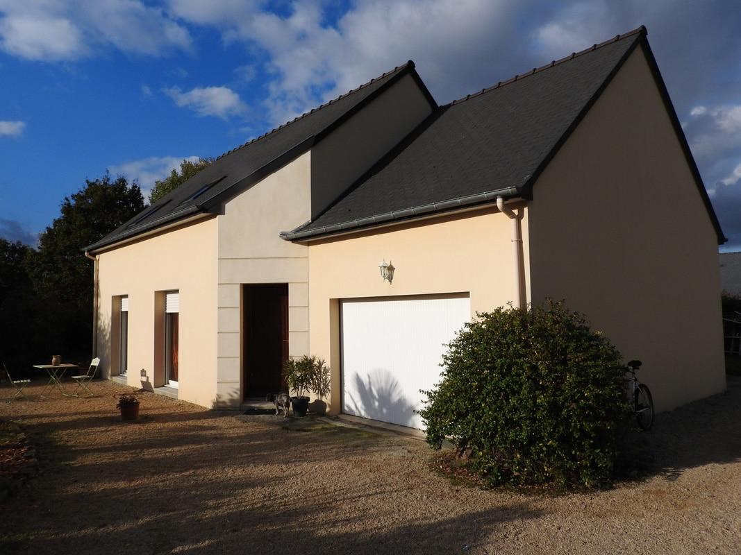 Maison d'habitation 92 m² avec 3 chambres jardin & garage ...